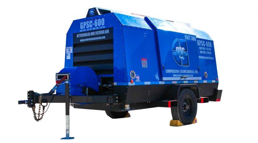 Petrol trailer air compressor